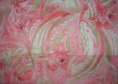 Платок «Розовая орхидея2»