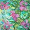 Платок «Розовая орхидея»