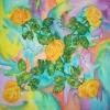 Платок «Желтые розы»